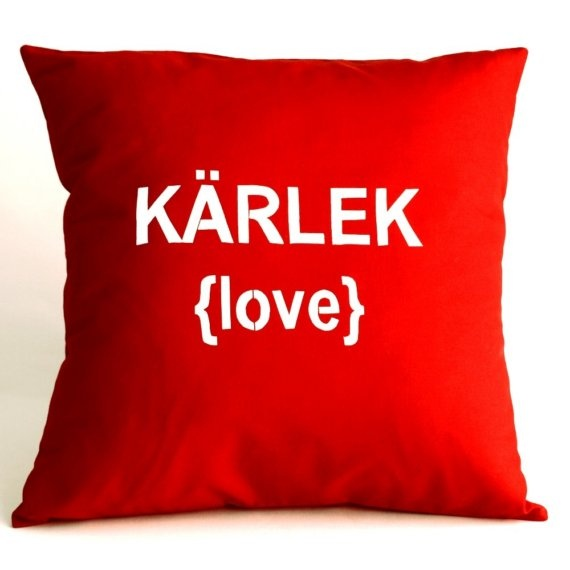 Swedish love pillow. Linnea Swedish Design. $29