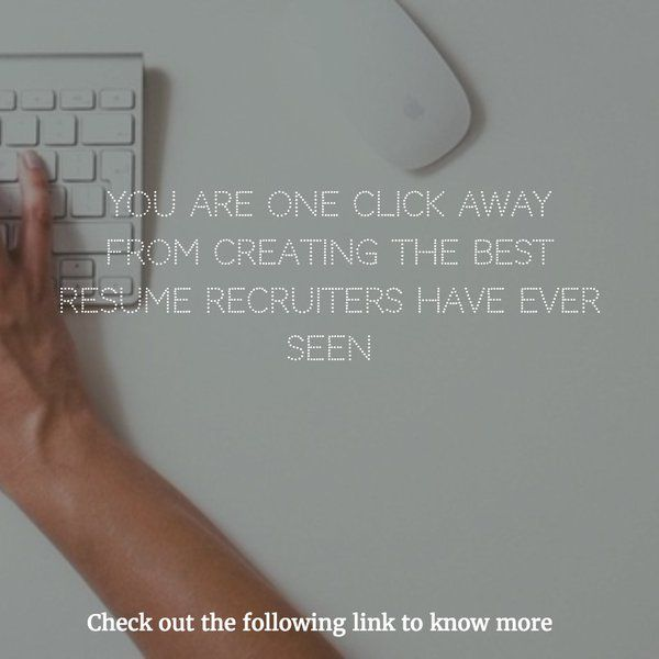 creating the best resume