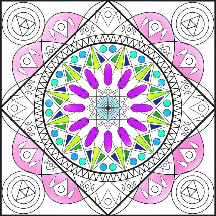 """The mandala coloring page Circle of Life is an adult coloring page printable. Mandala art therapy will help you relieve stress from your body, balance your energy and enhance your creativity. The mandala art coloring is also a great rainy day activity as well as a perfect get well soon gift.  The Mandala (Sanskrit for """"circle"""" or """"completion"""") has a long history and is recognized for its deep spiritual meaning and representation of wholeness. Mandala art therapy & healing can be a great ..."""