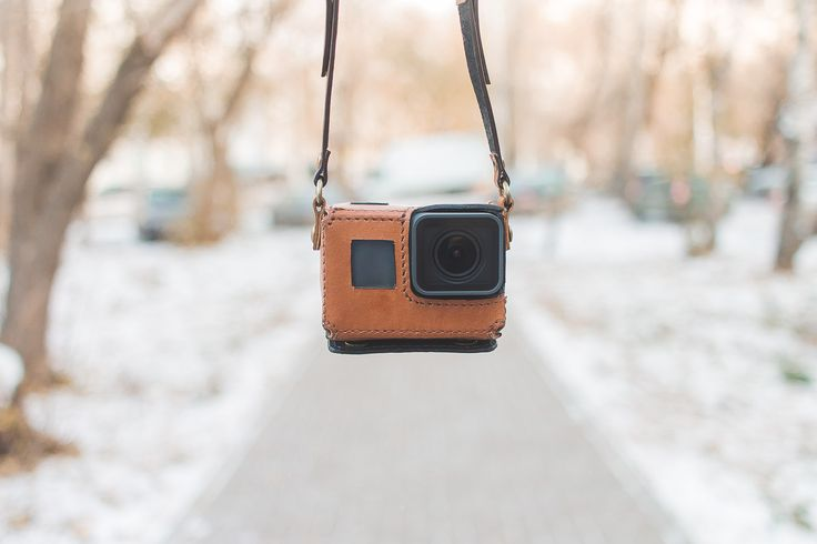 GoPro Hero 5 Black handmade brown leather case by NewWoodmanShop on Etsy