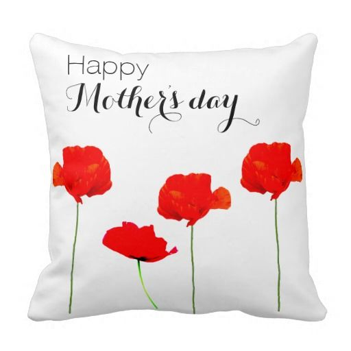 POPPY COLLECTION 04 Happpy Mother's Day Pillow