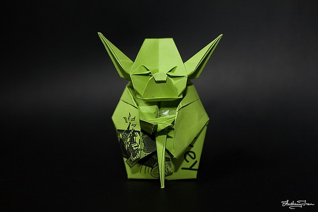 """There is no """"try"""". there is only do. origami."""