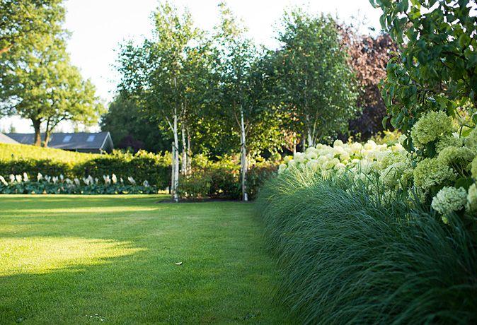 www.buytengewoon.nl. tuinontwerp - tuinaanleg - tuinonderhoud.  Modern-klassiek landhuis met bijpassende tuin.  Rietgedekte buitenruimte met keuken en haard, gazons, hoogteverschillen, beuken, taxus, buxus en vaste planten. www.buytengewoon.nl