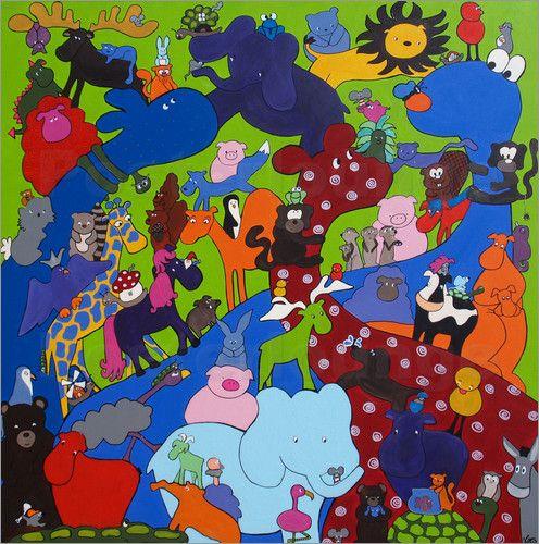 Wandbild von Loes - Bunte Tierwelt