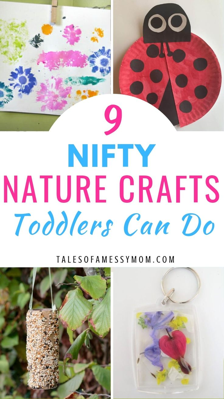 9 Nifty Nature Crafts Toddlers Can Do