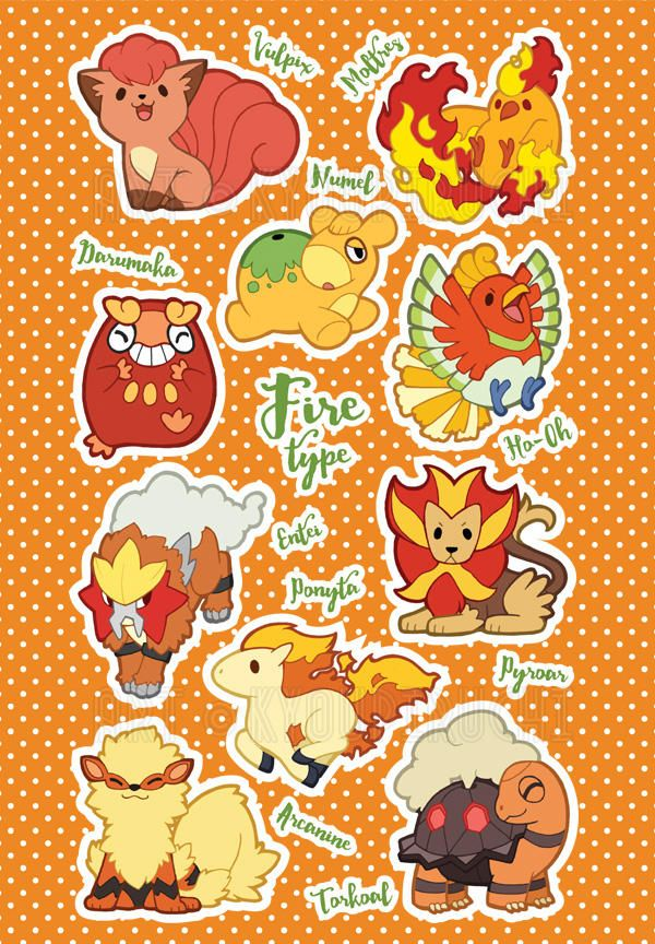 Fire Type Pokemon By Miaow Fire Type Pokemon Type Pokemon Pokemon