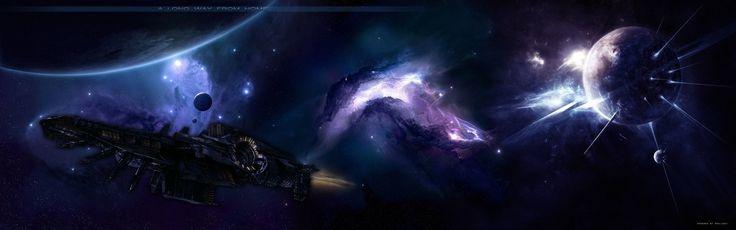 Научная фантастика космический корабль  Научная фантастика Фэнтези Космос планета Обои