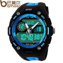 2015 Skmei hombre deporte relojes digitales LED de la jalea militar reloj para hombre reloj de pulsera de acero llena de nuevo Multi-color entrega gratuita(China (Mainland))