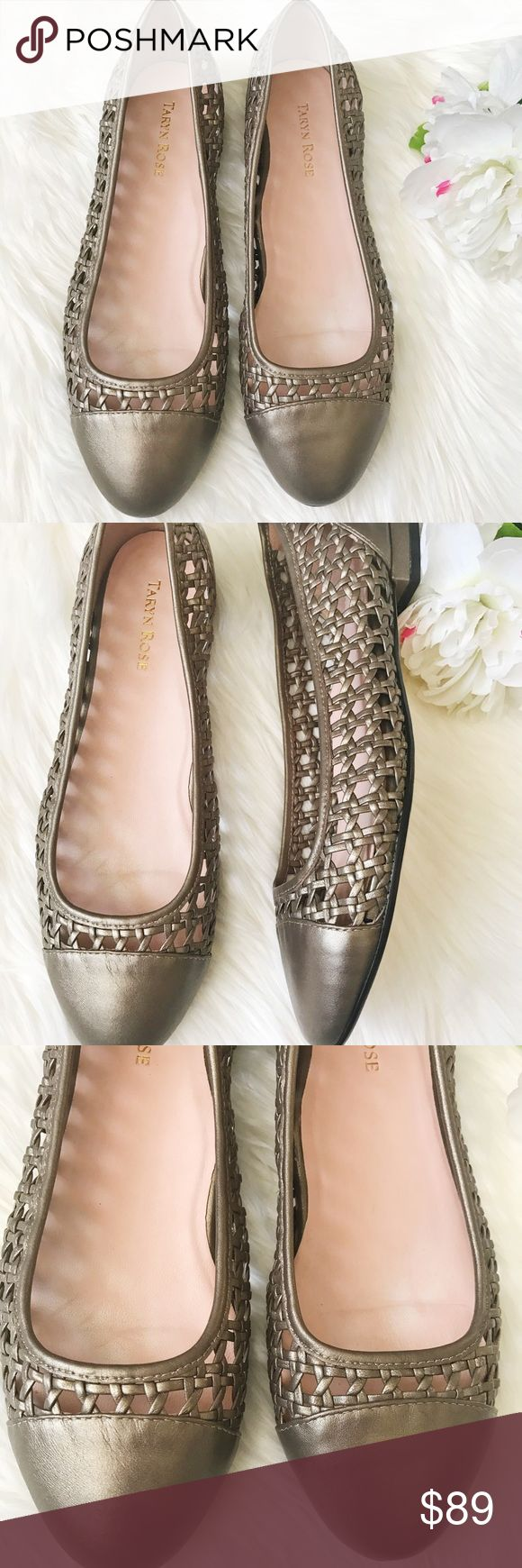 Taryn Rose Beatriz Woven Flats Taryn Rose Beatriz Woven Cap-Toe Ballerina Flat // Metallic // Excellent condition hardly worn // Size 9.5 M // Taryn Rose Shoes Flats & Loafers