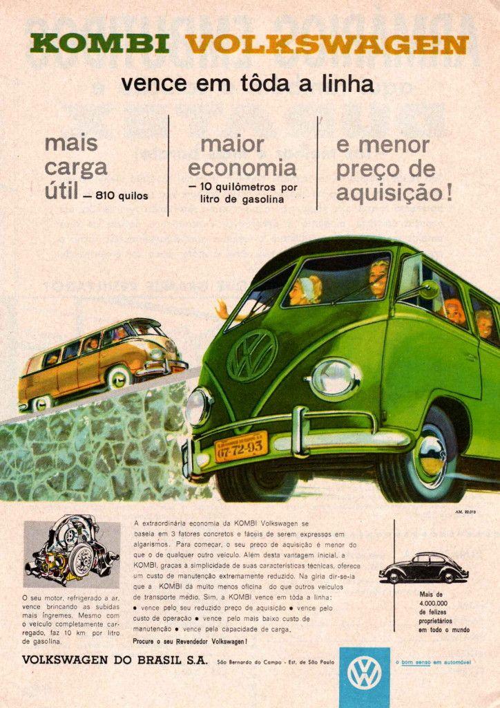 Propagandas antigas de carros: Kombi                                                                                                                                                                                 Mais