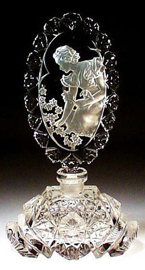 Morlee Perfume Bottle with Intaglio Stopper #antique #vintage #scent