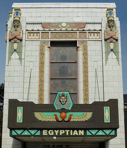 Art Deco Egyptian Theater, DeKalb, Illinois by Atelier Teee (on hiatus), via Flickr
