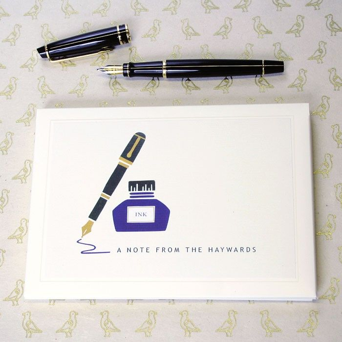 Personalised Ink pot writing set from madebyellis.com