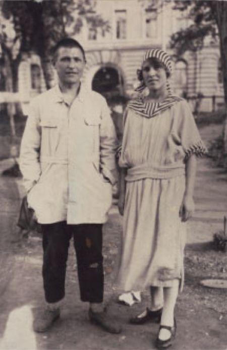Valentina Kulagina y Gustav Klutsis