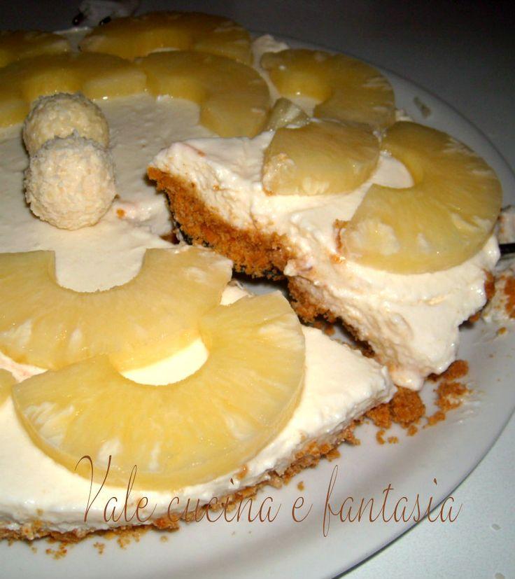 torta fredda con ananas e cocco  {http://blog.giallozafferano.it/valeriaciccotti/torta-fredda-con-ananas-e-cocco/}