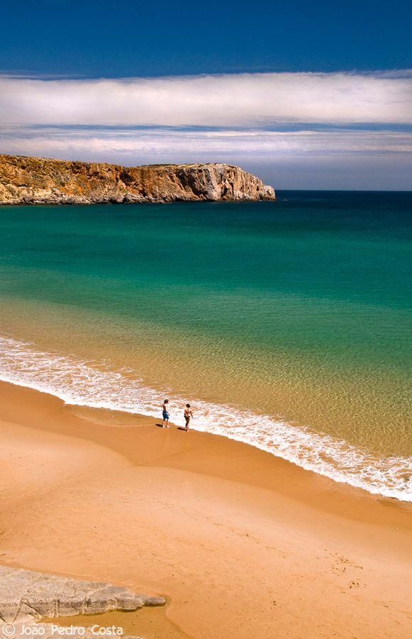 Praia da Mareta - Algarve , Portugal. How calm, the sea.