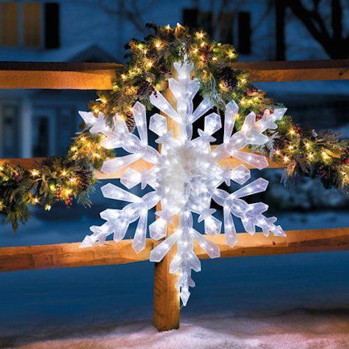 "48"" Large Snowflake Christmas Lights Lighted Tree Decor"