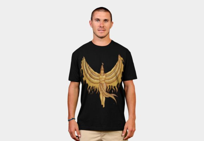 Isis, Goddess Egypt with wings of the legendary bird Phoenix by #beatrizxe   #designbyhumans #DBH #tee #tshirt Illustration of a woman that represented to Isis, a godness of the ancient Egipt. #God #Goddess #Egipt #Isis #wing #wings #bird #legendary #Phoenix #Illustration #woman #egyptian #traditional #digital #fire  #ink #color #drawing #vintage #papyrus #pharaoh #mythology #sketch #ancient #historical