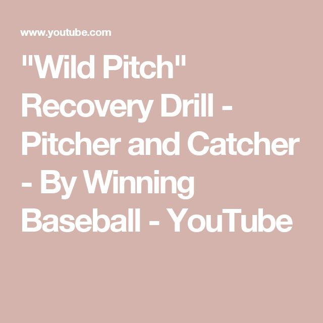 """""""Wild Pitch"""" Recovery Drill - Pitcher and Catcher - By Winning Baseball - YouTube"""