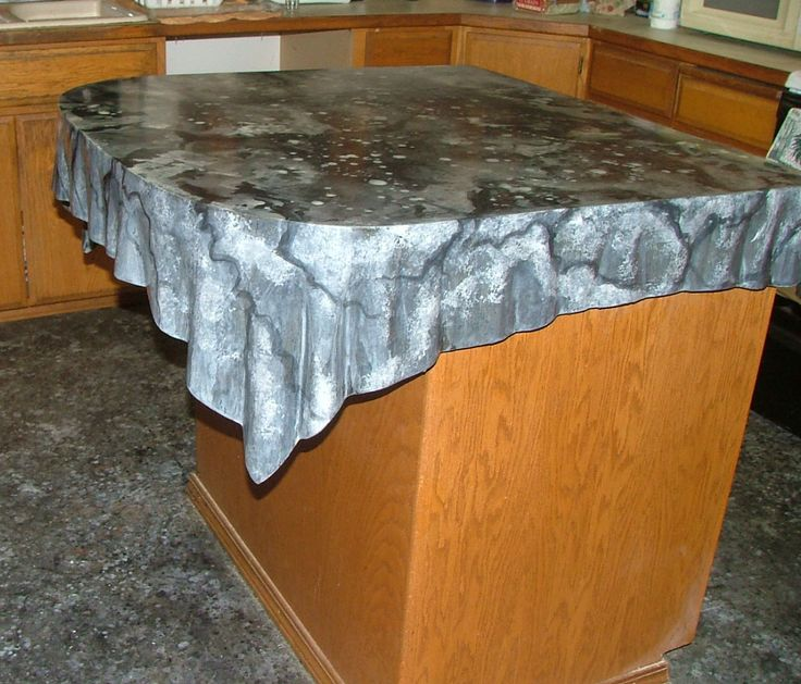 Concrete Countertop Edge Designs : ... concrete cloth on Pinterest Faux rock, Garden art and Concrete lamp