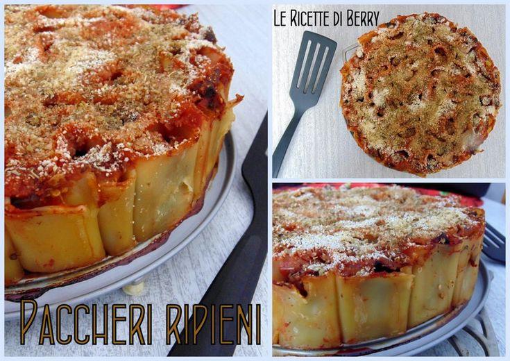 Paccheri Ripieni di Melanzane al Forno  VEGAN  http://blog.giallozafferano.it/lericettediberry/paccheri-ripieni-di-melanzane-forno/