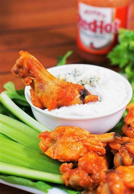 Homemade Blue Cheese Dressing Recipe for Dipping Buffalo Wings Image