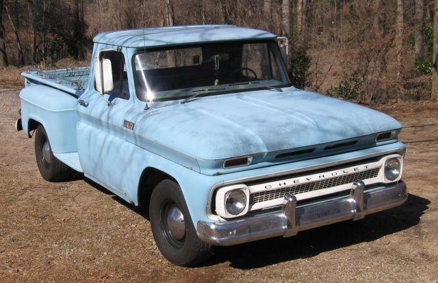 Beat Up Old Pick Up Truck Matraca 1965 C10 Lwb Step