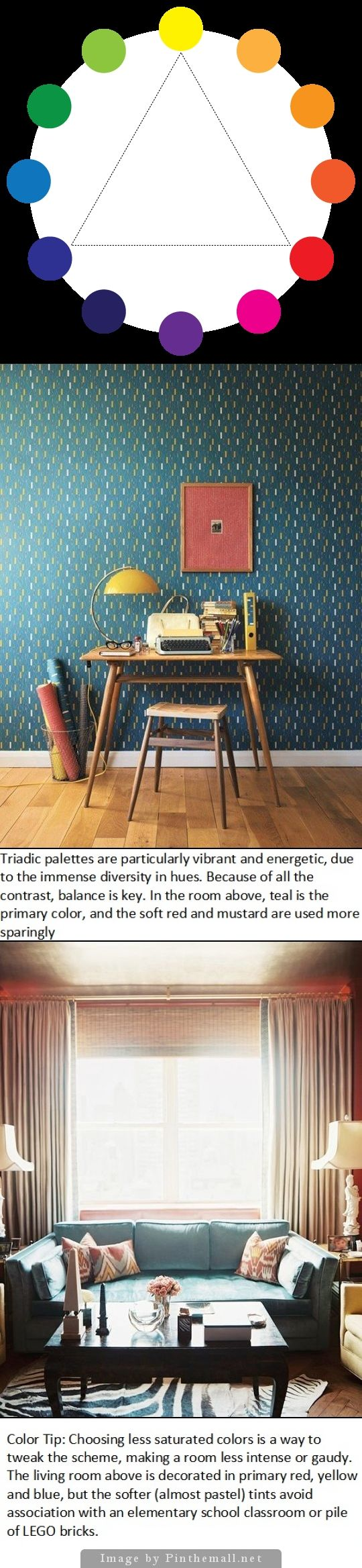 The Color Wheel: Guide to Perfect Paint Schemes. TRIADIC COLORS. Triadic  color schemes