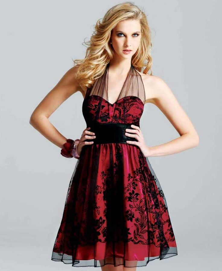 Short+red+Dresses  would be really cute for a reception dress to go w the red theme