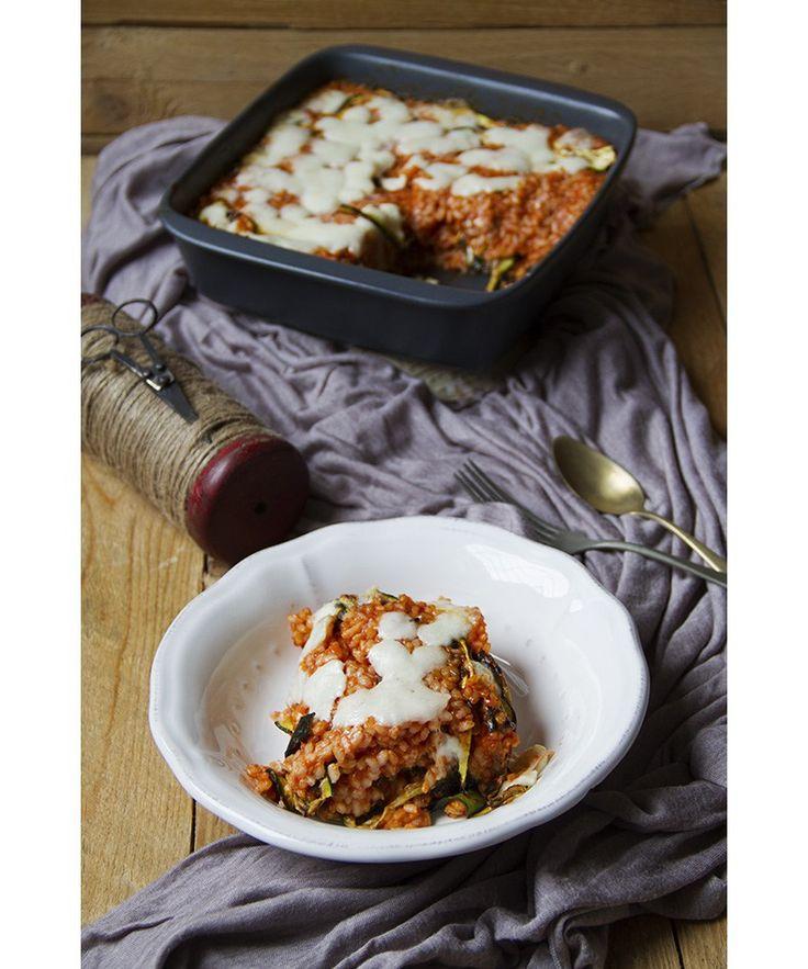 Sformato di riso con le zucchine _ Helthy rice and zucchini casserole (lactose free)