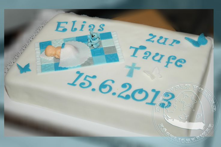 24 best images about taufe on pinterest mesas baby cards and vorlage - Torte zur taufe junge ...