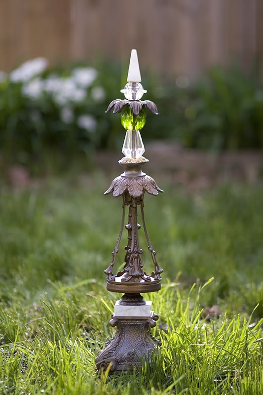 love this -- made from old lamp parts