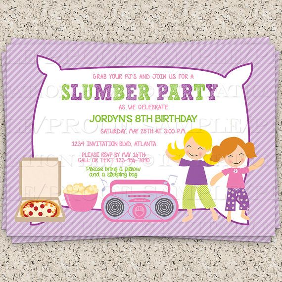 18 best Spa and sleepover party ideas images – Almost Sleepover Party Invitations