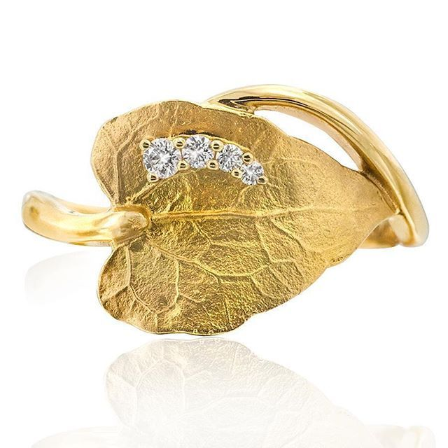 Be enchanted by the intricate design of the Leaf ring. In 18ct yellow gold with diamonds. Designed by Sabina Lee for Gerard McCabe. Shop the collection today at www.gerardmccabe.com.au
