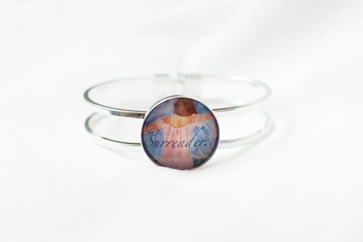 A personal favorite from my Etsy shop https://www.etsy.com/listing/467077700/surrender-bracelet-spiritual-message
