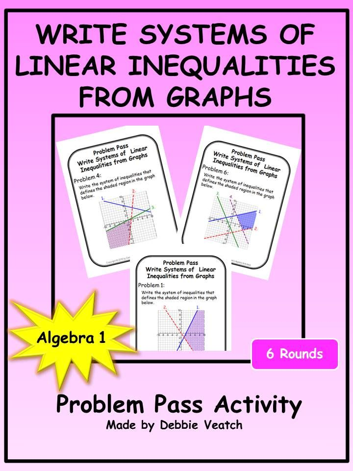 A Great Way To Practice Or Review Writing Systems Of Linear Inequalities From Graphs Includes Systems With Two Linear Inequalities Writing Systems Inequality