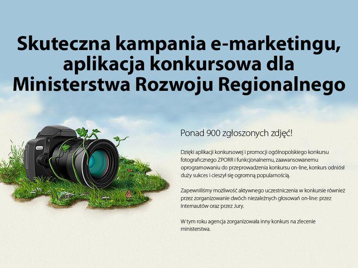 Skuteczna kampania e-marketingu, aplikacja konkursowa dla Ministerstwa Rozwoju Regionalnego. #migomedia