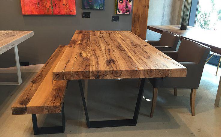 Holztisch massiv modern neuesten design for Esstisch naturholzplatte