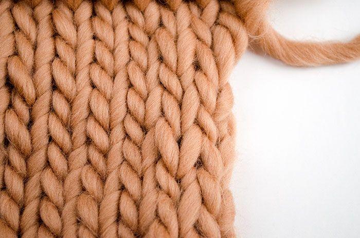 éviter que les bords de votre écharpe tricot s'enroulent