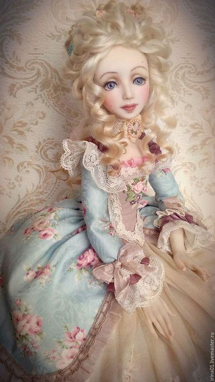 Collection doll / Коллекционные куклы ручной работы. Ярмарка Мастеров - ручная работа. Купить Придворные тайны . Елизавета.. Handmade. Голубой, фимо
