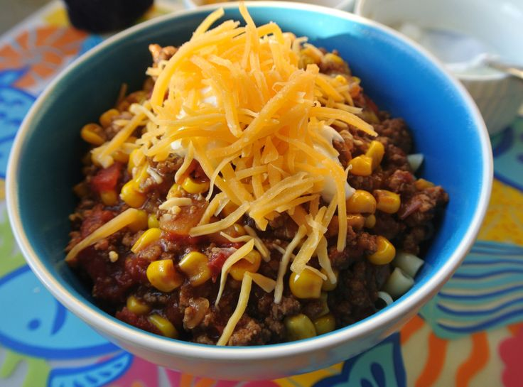 Taco Chili made with Ranch Packet and French Onion Soup! Yum!