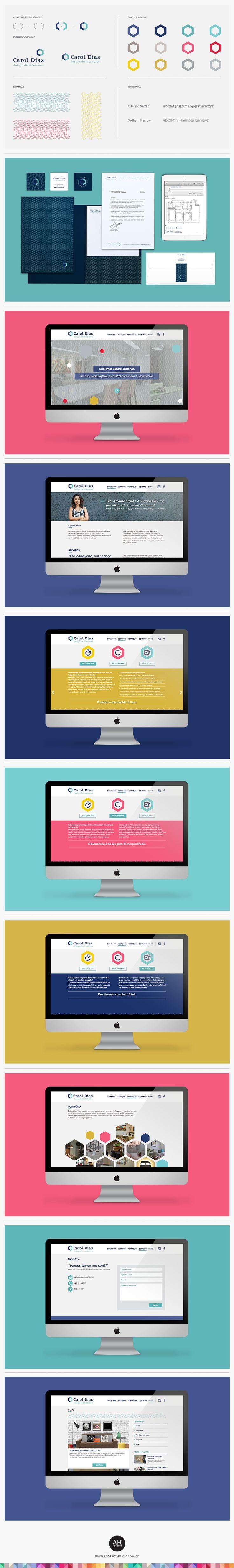 AHdesign Studio, Identidade Visual e Website para Carol Dias #webdesign #website #portfolio #singlepage #onepagewebsites #webpagelayout #digitaldesign #ux #design #desenhodemarca #idvisual #branding #logodesign #logomarca #graphicdesign #ahdesignstudio #caroldias