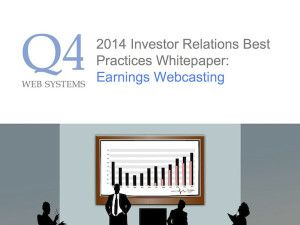 New Q4 Whitepaper: 2014 Earnings Webcasting Best Practices
