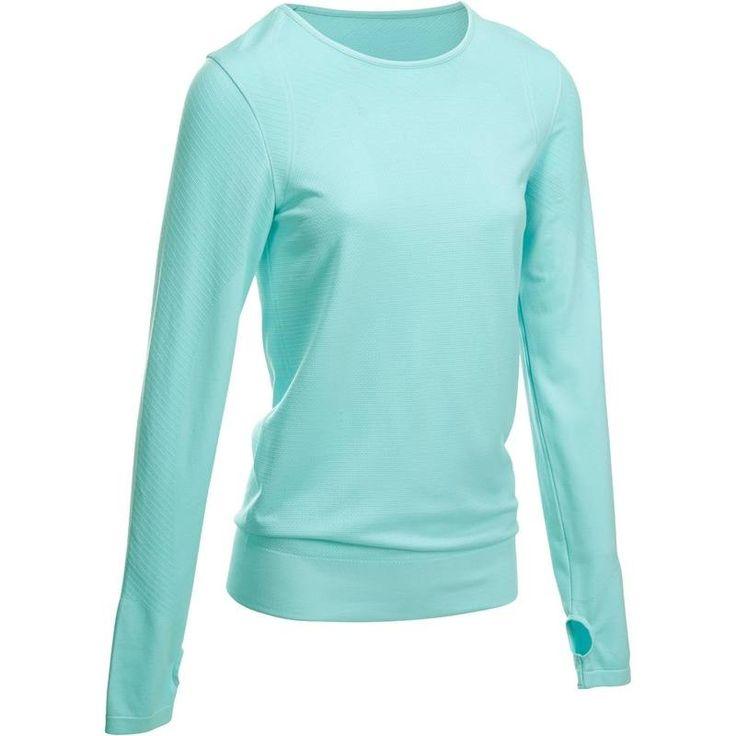 Fitness_Fitnesskleding Sportkleding - T-shirt Yoga+ lange mouwen DOMYOS - Sportkleding Dames