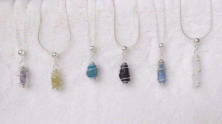 925 Sterling Silver Chain Necklace Caged NATURAL RAW HEALING CRYSTAL Pendant NWT #AsherahDesigns #Chain