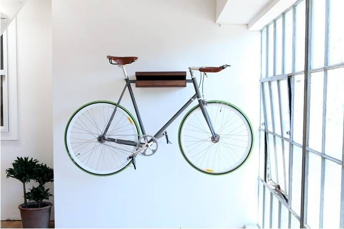 Bike Shelf | Don't know where this is going yet, but it is an option for hanging horizontally!