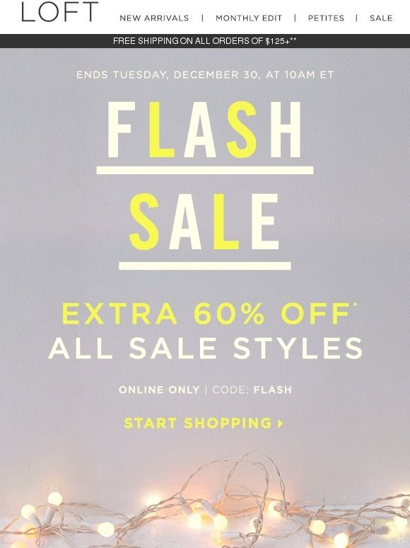 2014's last flash sale: Extra 60% off
