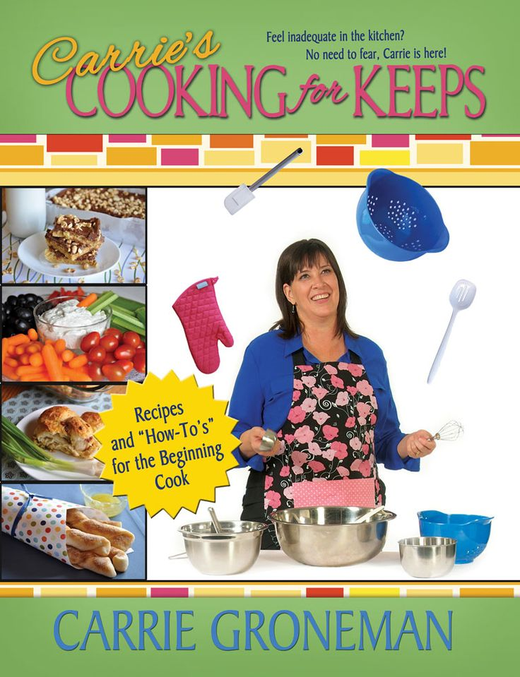 Carrie's Cooking for Keeps  - the NEW cookbook from AMothersShadow.com!  Great for beginner cooks (from teenagers to college students to anyone!), and also has great recipes for anyone to try.