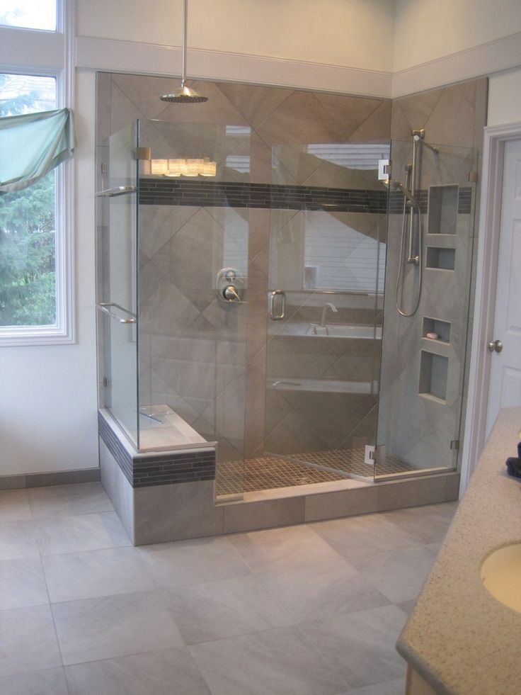 1000 images about cool showers on pinterest double for Cool bathroom remodels