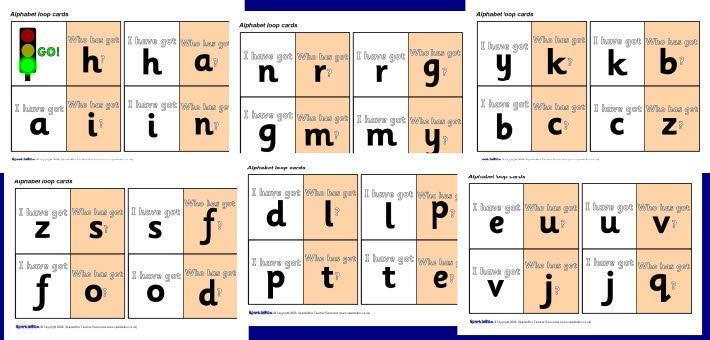 Nederlandse versie!!! Alphabet loop cards (SB1474) - SparkleBox